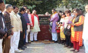 डॉ. उदित राज ने ओपन जिम का उद्घाटन किया