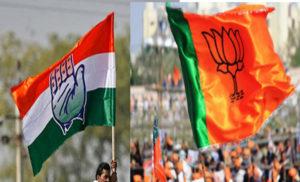 मात्र 6 से 7 फीसदी वोट की लड़ाई लड़ती बीजेपी -कांग्रेस