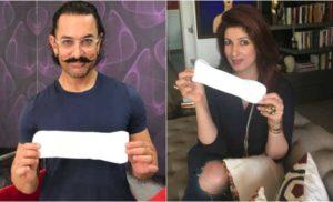आमिर ने हाथ में उठाया सेनेट्री पैड