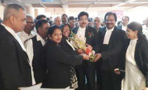 साकेत कोर्ट में वकीलों ने मनाया होली मिलन समारोह
