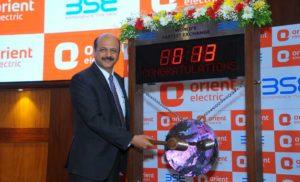 ओरिएंट इलेक्ट्रिक की शेयर बाजार में शुरुआत, अपर सर्किट 142 रुपए पर