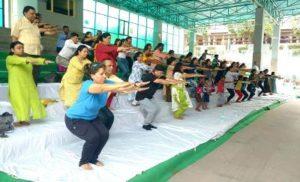 जानकी देवी मेमोरियल कॉलेज में मना योग दिवस