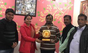 भाजपा जिलाध्यक्ष अजय महावर का छठ पूजा समिति ने किया धन्यवाद