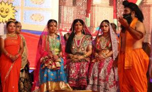 लवकुश रामलीला में दूसरे दिन कई लीलाओं का मनोहारी मंचन