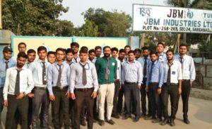 संस्कृति विवि के इंजीनिरिंग के छात्रों ने किया जेबीएम का किया दौरा