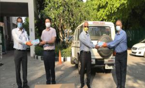 जेवी कृष्णा मारुति ने हरियाणा सरकार को 10 लाख ट्रिपल-प्लाई मास्क का दान किया