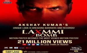 Laxmmi Bomb का मोशन पोस्टर रिलीज़, 24 घंटों में 21 मिलियन व्यूज़
